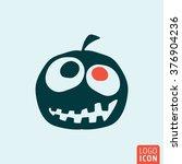 halloween pumpkin icon. vector...