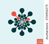 molecule icon. vector... | Shutterstock .eps vector #376904275