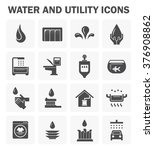 Water And Utility Vector Icons...
