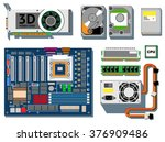 computer hardware on white... | Shutterstock .eps vector #376909486