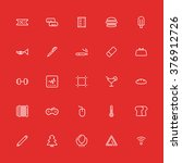 set line flat icons. vector...
