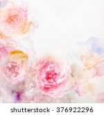 watercolor card with beautiful... | Shutterstock . vector #376922296