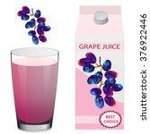packaging design juice grapes ...   Shutterstock .eps vector #376922446