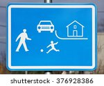 residential zones traffic sign  | Shutterstock . vector #376928386