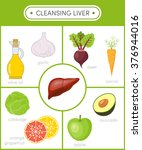 concept of healthy liver. ... | Shutterstock .eps vector #376944016