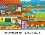 the cut through illustration  ... | Shutterstock . vector #376944676