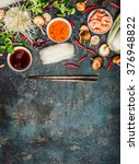 various of asian cooking... | Shutterstock . vector #376948822