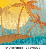 tropical vintage vector.   Shutterstock .eps vector #37695013