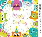 happy birthday card design.... | Shutterstock .eps vector #376958902