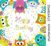 happy birthday card design.... | Shutterstock .eps vector #376958902