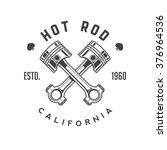 hot rod retro emblem | Shutterstock .eps vector #376964536
