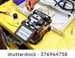 fiber optic cable splice machine   Shutterstock . vector #376964758