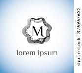 m letter vector logo template ... | Shutterstock .eps vector #376967632