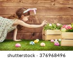 Happy Easter  Cute Little Chil...