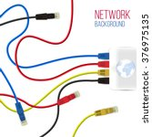 network background. patch cord. ... | Shutterstock .eps vector #376975135