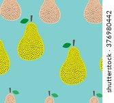scandinavian pear vector... | Shutterstock .eps vector #376980442