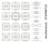 vintage frames  borders  and... | Shutterstock .eps vector #376988725