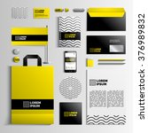 corporate identity template in... | Shutterstock .eps vector #376989832