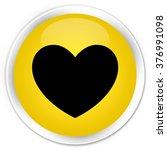 Heart Icon Yellow Glossy Round...