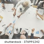 business people analyzing... | Shutterstock . vector #376991242