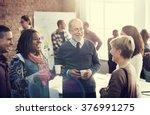 business team meeting working... | Shutterstock . vector #376991275