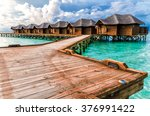 water bungalows. maldive islands | Shutterstock . vector #376991422