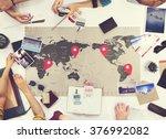 business travel meeting... | Shutterstock . vector #376992082