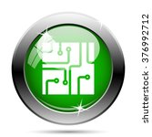 circuit board icon. internet... | Shutterstock .eps vector #376992712