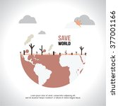 save world   eco   green earth | Shutterstock .eps vector #377001166