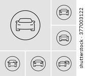 car vector icons  | Shutterstock .eps vector #377003122