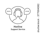 thin line hotline icon. concept ...