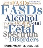 fasds   fetal alcohol spectrum... | Shutterstock . vector #377007256