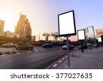 blank advertising panel near... | Shutterstock . vector #377027635