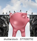 money bridge financial concept... | Shutterstock . vector #377030752