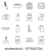 goods for pets icon set for web ... | Shutterstock .eps vector #377032726