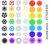 big vector symbol set of... | Shutterstock .eps vector #377039335