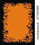 halloween frame | Shutterstock .eps vector #37704589