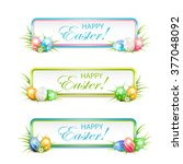 easter banners with... | Shutterstock .eps vector #377048092