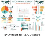 collection of infographic... | Shutterstock .eps vector #377048596
