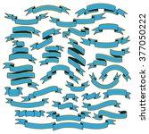 vintage blue ribbon banners ... | Shutterstock . vector #377050222