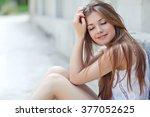 beautiful woman   Shutterstock . vector #377052625