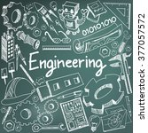 mechanical  electrical  civil ... | Shutterstock .eps vector #377057572