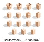 set of 15 realistic isometric... | Shutterstock . vector #377063002