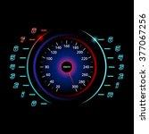modern car speedometer. racing... | Shutterstock .eps vector #377067256