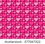 seamless romantic hearts... | Shutterstock .eps vector #377067322