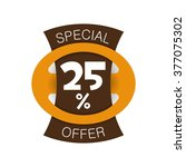 special offer 25  discount.... | Shutterstock .eps vector #377075302