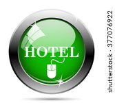 hotel icon. internet button on... | Shutterstock .eps vector #377076922