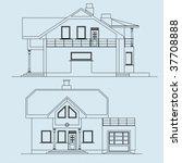 architecture  facade | Shutterstock .eps vector #37708888