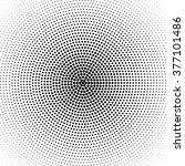 vector radial gradient halftone ... | Shutterstock .eps vector #377101486