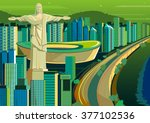 vector illustration of christ... | Shutterstock .eps vector #377102536